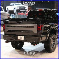 VLAND LED Black Headlight + LED Tail Lights Fits For Ford F150 F-150 2018-2020