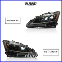 VLAND LED Headlights For 2006-2013 Lexus IS 250 350 ISF Front Lights Assembly