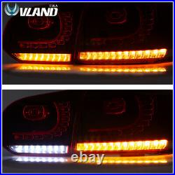 VLAND LED Red Smoked Tail Lights For VW Volkswagen Golf 6 MK6 GTI R 2010-2014