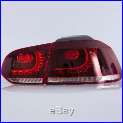 VLAND LED Sequential Tail Light Lamps Fit 2010-2014 Volkswagen Golf 6 MK6 GTI R