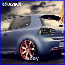 VLAND LED Smoked Tail Lights For VW Volkswagen Golf 6 MK6 GTI R 2010-2014