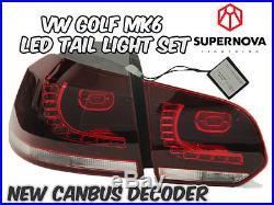 VW Golf MK6 2009-2012 LED Tail Lights- Aus Free Postage-TSI/GTI/TDI/GTD