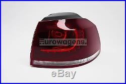 VW Golf MK6 GTI GTD R20 Dark Red R Line LED Tail Rear Lights Lamps Set Pair RHD