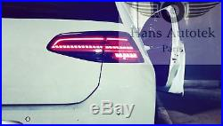 VW Golf MK7 MK7.5 style R LED Dynamic Tail Lamps Lights Tinted tailights (NEW)