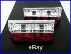 VW Rabbit Golf MK1 1 Cabrio Euro E-Code Red Crystal Clear Tail Lights Rear Lamp