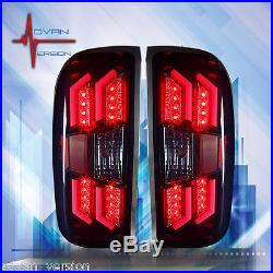 WINJET 2014-2017 Chevy Silverado 1500 LED Tail Lights Smoke Lens Rear Lamps PAIR