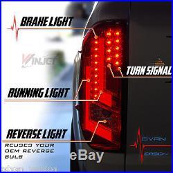 Winjet 2014 -2018 Toyota Tundra LED Tail Lights Rear Lamps Black/Smoke