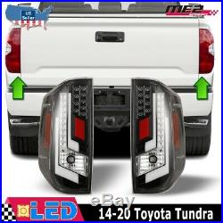 Winjet OE Factory Fit For 2014 -2019 Toyota Tundra LED Brake Tail Lights Clear