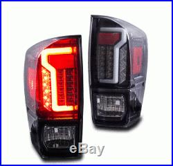 Winjet OE Factory Fit For 2016-2019 Toyota Tacoma LED Brake Tail Lights Black
