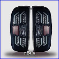 Winjet OE Fit For 2014-2017 Chevy Silverado 1500 LED Brake Tail Lights Smoke