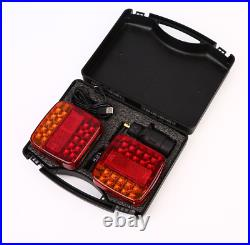 Wireless Magnetic Led Rear Tail Lights Battery Tow Towing Trailer 12v 24v Dual W