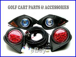 Yamaha G29 Drive Golf Cart 2007-UP Halogen Headlight Kit with LED Tail Lights